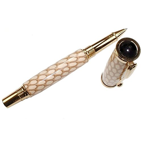 Cobra Skin Pisa Hand Crafted Rollerball Pen by ArtisanStreet