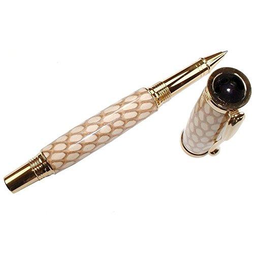 Cobra Skin Pisa Hand Crafted Rollerball Pen by ArtisanStreet