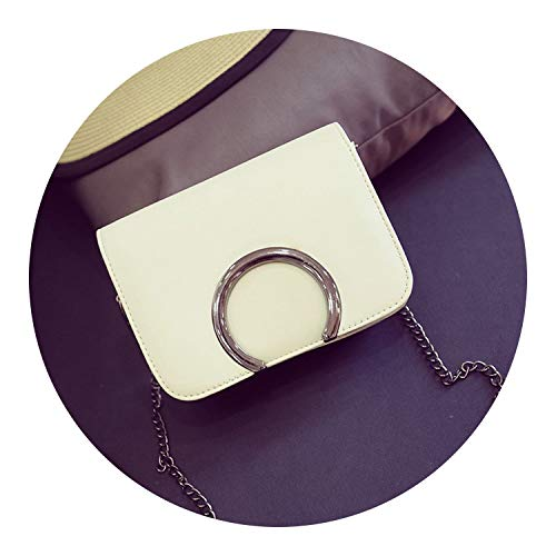 (handbags chain flap semicircle sequined woman messenger bag Korean version shoulder bag,Beige)