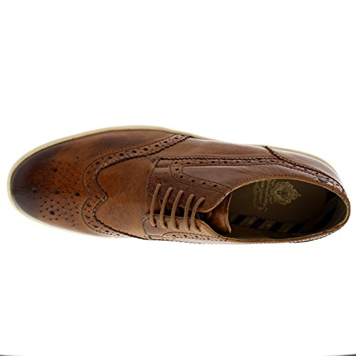 Base London Mens Perform Leather Shoes Tan