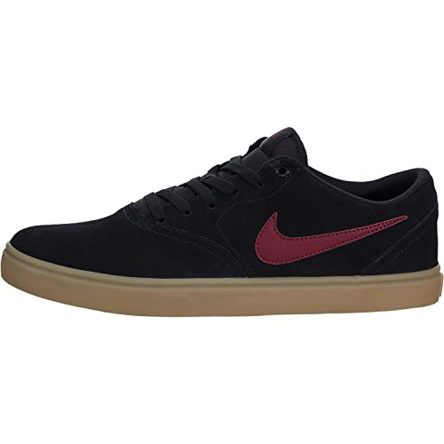 Zapatillas Nike Para Hombre Sb Check Solar Skate Black / Team Red-gum Marrón Claro
