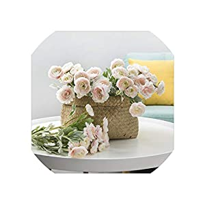 Artificial Flowers 3 Heads Artificial Buttercup Flowers for Home Decoration Decor Fake Flower Artificial Rose Peony 86