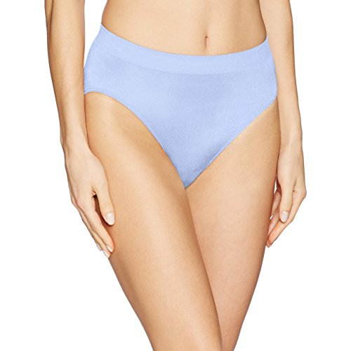 Wacoal Women's B-Smooth Hi-Cut Brief Panty, Hydrangea, XL
