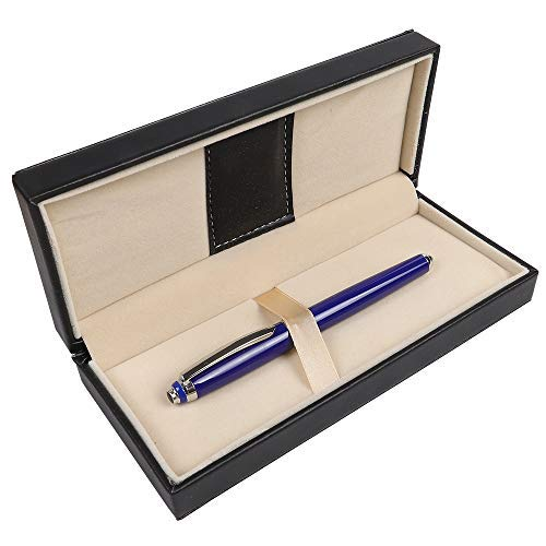 Rollerball Pen for Men Women Executive Office Business Use, Penneed Gel Pen with Gift Box Refillable 0.7mm Black Ink G6(Blue)