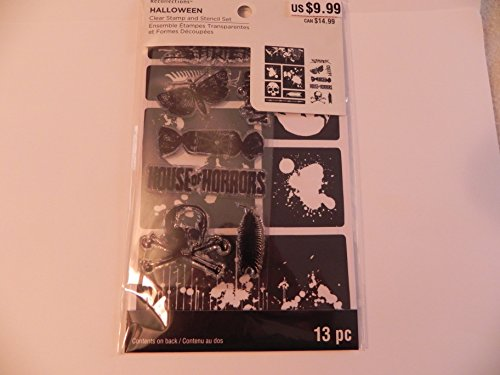 Recollections Halloween Stamps & Stencil, House of Horrors