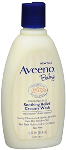 AVEENO Baby Fragrance Free Soothing Relief Creamy Wash 12 oz (12 Pack) by Pharmapacks
