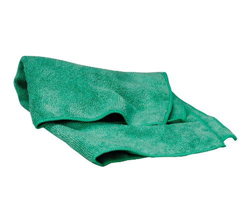 Waxie LFK300W Polyester Microfiber Terry Cloth, 16'' Length x 16'' Width, Green (Case of 180)
