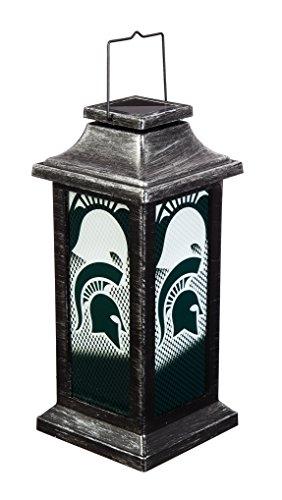Team Sports America Michigan State University Solar-Powered Outdoor Safe Hanging Garden Lantern