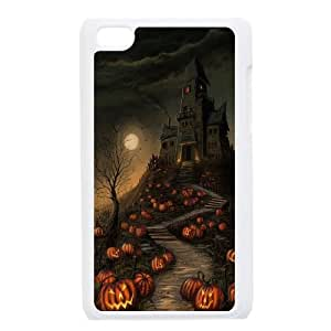 Halloween Haunted House Pumpkin Path iPod Touch 4 Case White DIY GIFT pp001_8055496