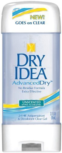 Dry Idea Advanced Dry Antiperspirant & Deodorant Clear Gel 3oz (6 Pack)