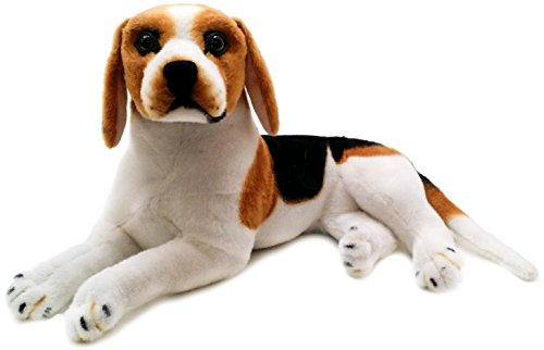 Brittany the Beagle | 17 Inch Large Beagle Dog Stuffed Animal Plush | By Tiger Tale Toys (Big Dog Stuffed Plush)