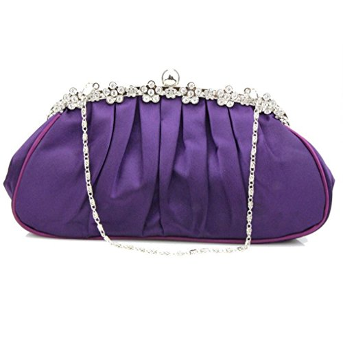 Dinner Purple Bag Party Satin Clutch 2018 Satin SHISHANG Multi Ladies Function ZYXCC Fold p675w
