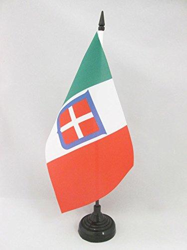 AZ FLAG Bandiera da Tavolo Regno d'Italia 1861-1946 21x14cm - Piccola BANDIERINA Reale Italiana 14 x 21 cm