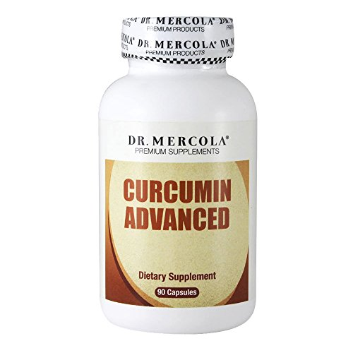Dr. Mercola Curcumin Advanced - 500 mg 90 Capsules - MicroActive Technology Capsule - Sustained Release for Maximum Absorption - Helps Maintain Prostate Health, Brain Health, and Gallbladder Function