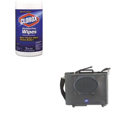 KITAPLSW222COX01761EA - Value Kit - Amplivox Wireless Audio Portable Buddy Professional Group Broadcast PA System (APLSW222) and Clorox Disinfecting Wipes (Wireless Buddy Pa System)