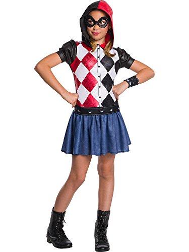 Rubie's DC Super Hero Girls Hoodie Dress Childrens Costume, Harley Quinn, Large