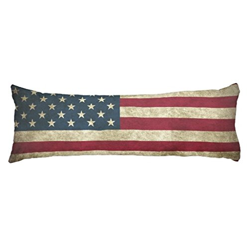 AMERICAN GRUNGE FLAG Custom Polyester Body Cushion Body Pillowcase
