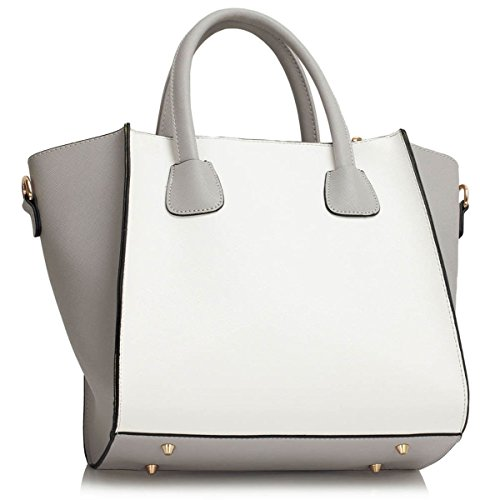 Xardi London, Borsa a spalla donna large Grey/White