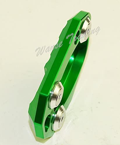 Green waase Motorcycle Kickstand Foot Side Stand Extension Pad Support Plate For Kawasaki Z800 Z1000 Z1000SX ER4N ER4F ER6N ER6F Ninja 400R 650 650R 1000 ZX-6R ZX-10R