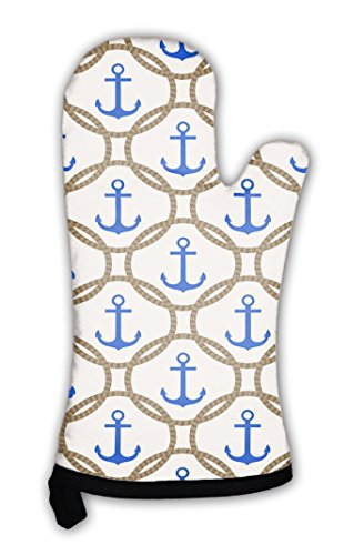 Gear-New-Oven-Mitt-Nautical-Pattern-With-Blue-Anchors-And-Rope-GN818047