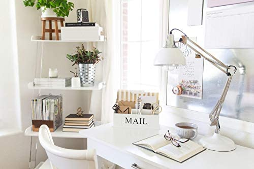 Blu Monaco White Wooden Mail Organizer 3 Tier White Desk Organizer Rustic Country Mail Sorter Kitchen Counter Organizer Mail Holder
