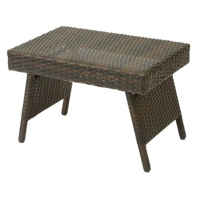 Best Selling Foldable Outdoor Wicker Table - Folding outdoor wicker table Metal frame wrapped with PE wicker Folds flat for use as a lap table as well as easy storage - patio-tables, patio-furniture, patio - 41%2BGRgpLTiL. SS400  -