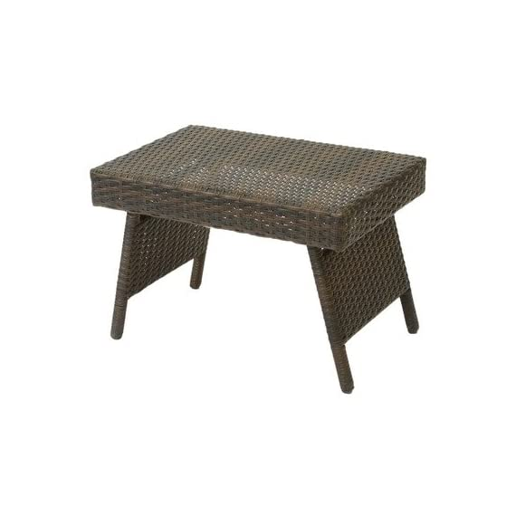 Best Selling Foldable Outdoor Wicker Table - Folding outdoor wicker table Metal frame wrapped with PE wicker Folds flat for use as a lap table as well as easy storage - patio-tables, patio-furniture, patio - 41%2BGRgpLTiL. SS570  -