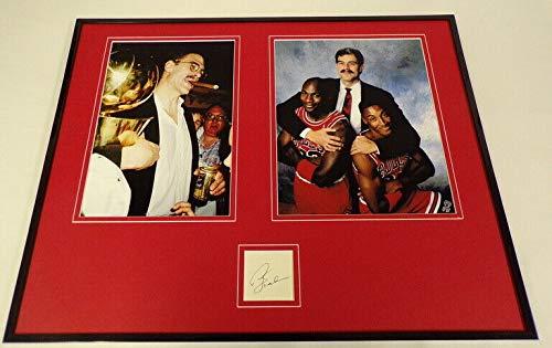 Phil Jackson Signed Framed 16x20 Photo Display w/Michael Jordan S Pippen Bulls