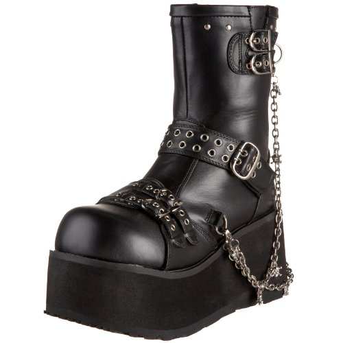 Vegan Leather 430 Negro Botas Demonia Mujer Clash Negro Blk w4UqP8B0x