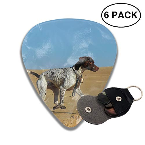 (Animal Pointer Dogs Old Danish Dog 3D Printed Custom Guitar Picks 6pcs Celluloid Bass Celluloid Material Same Pattern on Both Sides 0.46mm/0.73mm/0.96mm)