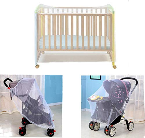 Wodison Baby Mosquito Net Set 3 Pack for Strollers, Carriers, car Seats, Cradles and Crib 3 Style Mosquito Net Infant Crib Canopy