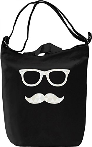 Hipster glasses Borsa Giornaliera Canvas Canvas Day Bag| 100% Premium Cotton Canvas| DTG Printing|