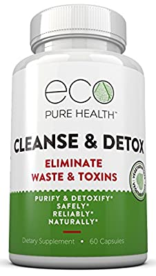 Cleanse & Detox Supplement to Purifty & Detoxify The Colon Safely, Naturally & Reliably - by Eco Pure Health