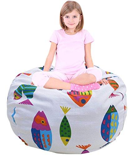 Child Bean Bag | Sofa Chair | Storage Bags | Beanbag Chair | Fabric Clothes Bag | Sofa Lounger | Cotton Canvas Bag | Premium Quality Cotton | Storage Solution for Bedroom ()