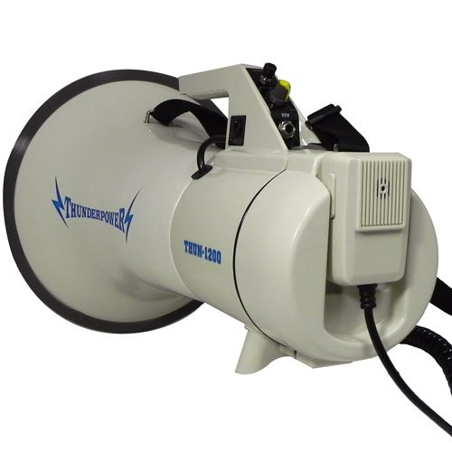 Extra Loud, Heavy Duty Megaphone - ThunderPower 1200 - 45 Watts of Power by ThunderPower