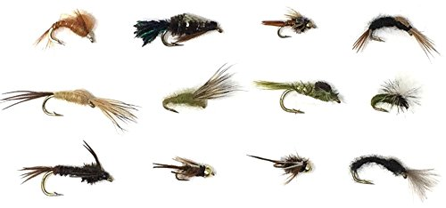 - Feeder Creek Fly Fishing Assortment for Trout and Other Freshwater Fish - 36 Nymphs and Emergers - 12 Patterns - Great Spring Mix - Sold