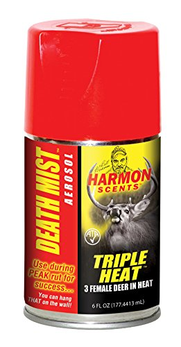Harmon Scents - Triple Heat Female In Heat Death Mist - HTHDM - Hunting Scents - Aerosol Spray - 6 Ounces - Whitetail Urines - Deer Lure - Whitetail Attractant (Estrous Urine)