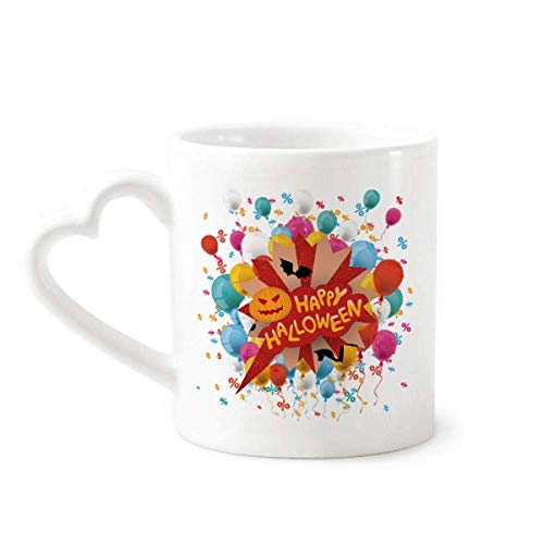 Cartoon Halloween Fonts Festival Balloon Mug Coffee Cup Pottery Ceramic Heart -