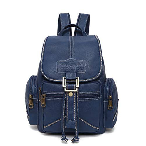 College Bagpack cuir femmes des Blue Gensotrn PU sacs étudiant l'eau dos Drawstring en scolaires souple Imperméable wqxzRxv