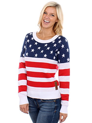 Women's American Flag Sweater: Medium