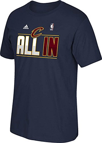 3401f79fc Amazon.com   Cleveland Cavaliers Navy Adidas Playoff All In Slogan T ...