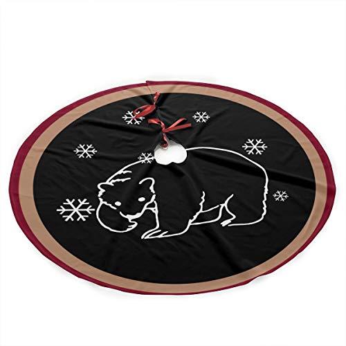 Polar Bear Christmas Tree Skirt Holiday New Year Festive Xmas Tree Decorations - Bears Christmas Skirt Tree