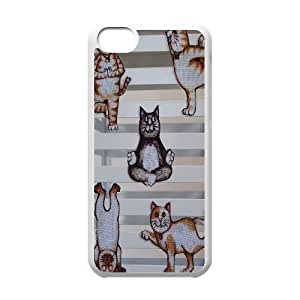 linJUN FENGYoga Cats DIY Cover Case for iphone 4/4s,personalized phone case ygtg572887