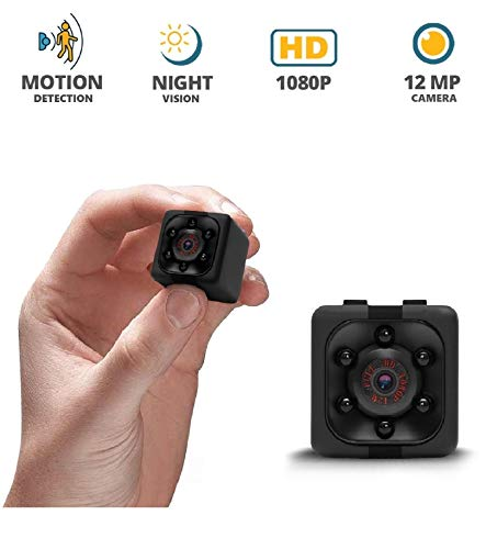 Mini Wireless Spy 1080p – Hidden Cop Cam, Small Camera for Home Office Security W/Motion Detection & Night Vision, Car Security Recording Camera, Hidden Nanny Cam, Wireless Wearable Spy Body Camera