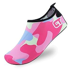 SENFI Lightweight Quick-Dry Water Shoes For Water Sport Beach Pool Camp (Men, Women, Kids),NS01,c.Pink,38.39