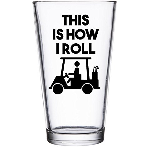 Funny Golf Lover Gift - This is How I Roll Beer Mug Pint -
