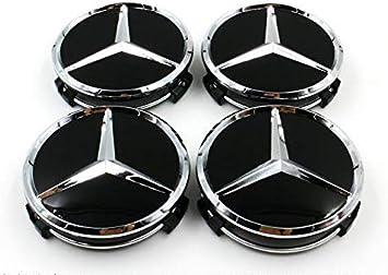Mercedes 75mm Radkappen Nabenkappen Nabendeckel Felgendeckel 4 Stück Emblem Auto