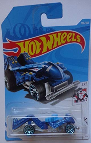 Hot Wheels Mattel 2018 Hw Robots - Zombot (Dark Blue) 306/365 -