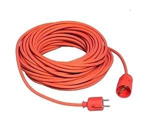 uniTEC 46452 - Cable alargador schuko (H05VV-F 3G, 1, 5 mm², 25 m), color naranja