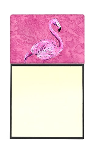 Pink Flamingo Note (Caroline's Treasures Flamingo on Pink Refillable Sticky Note Holder or Postit Note Dispenser, 3.25 by 5.5